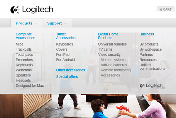 Logitech – Accueil et Navigation